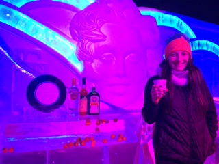50's themed ice sculptures at Karl's near Rostock.